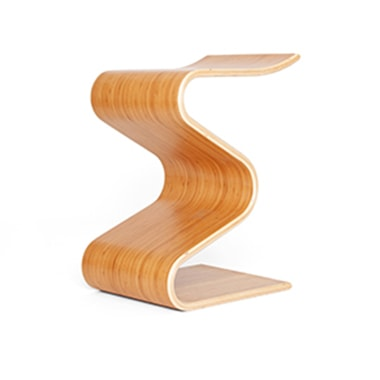 Magnificent Zig Zag Stool Bamboo Parada One Design Ncnpc Chair Design For Home Ncnpcorg